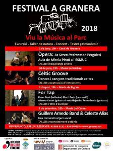 Cartell Festival Granera 2018